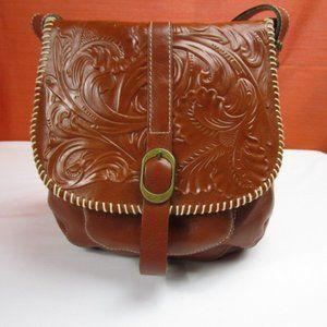 "Patricia Nash ""Barcellona"" Leather Saddlebag"